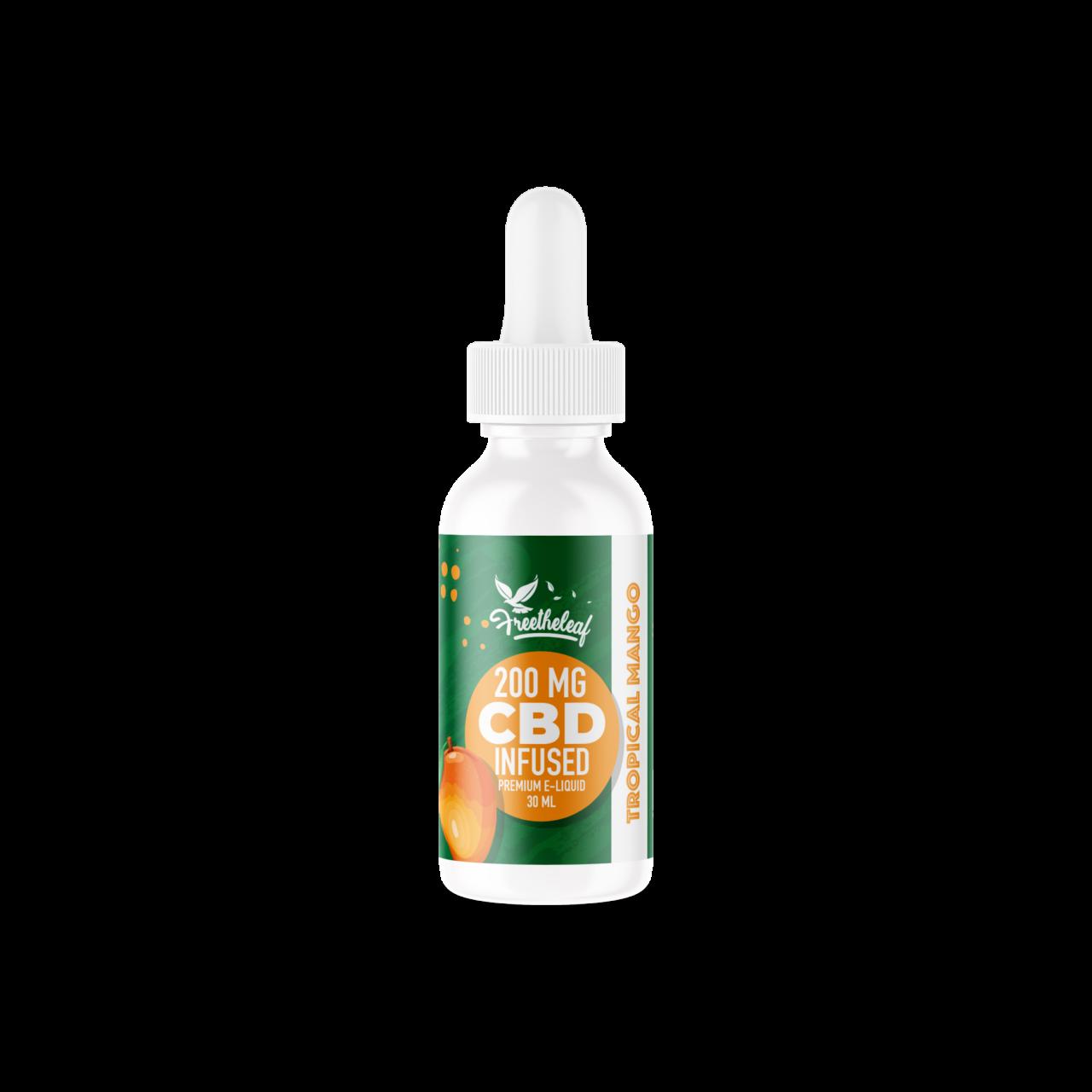 Free the Leaf 200mg Tropical Mango CBD Vape Juice
