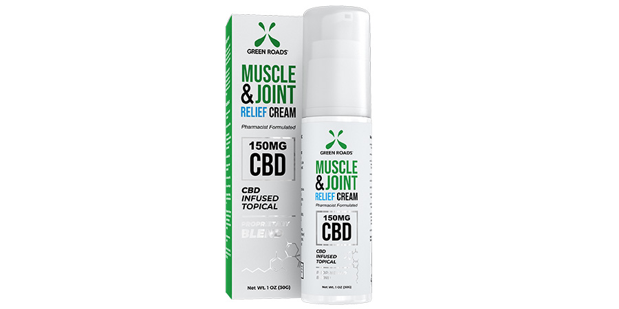 green roads muscle & joint pain relief cream. cbd infused topical creams for sale online.
