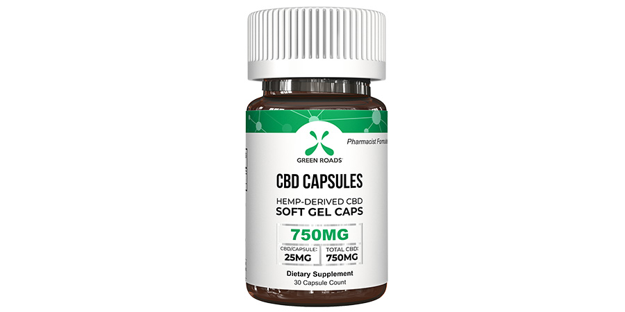 green roads cbd hemp capsules for anxiety and stress relief