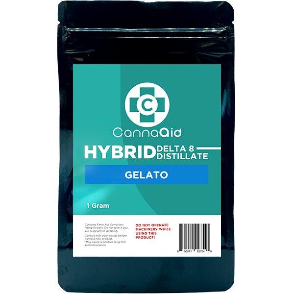 Canna Aid Delta 8 Distillate Gelato Hybrid