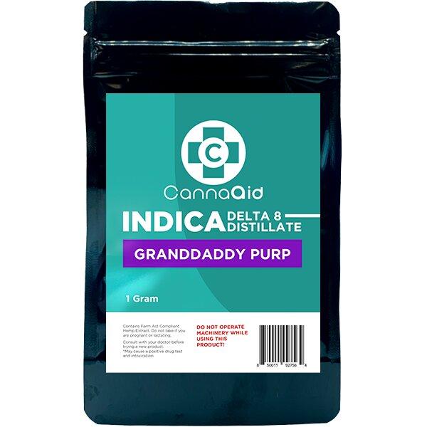 Canna Aid Delta 8 Distillate Grandaddy Purp Indica