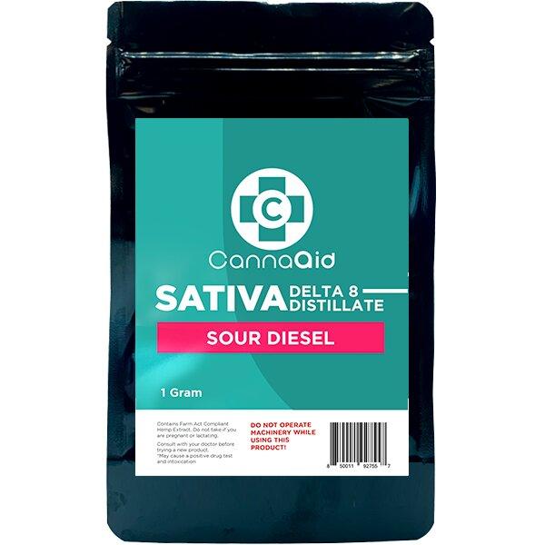 Canna Aid Delta 8 Distillate Sour Diesel Sativa