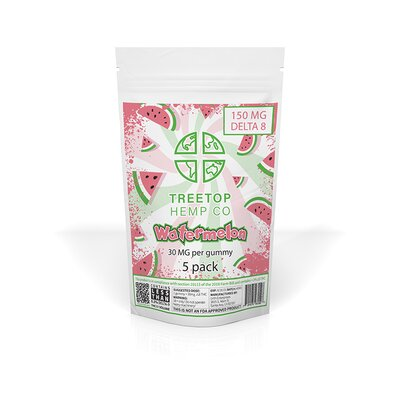 tree top hemp watermelon 5 pack delta 8 gummies