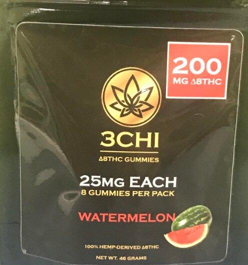 3Chi Delta 8 THC Gummies 200mg Watermelon