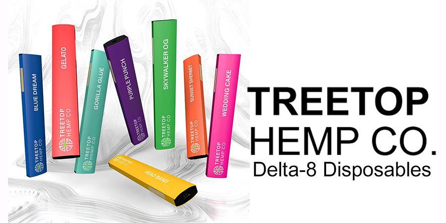 treetop hemp co disposable delta 8 THC pens