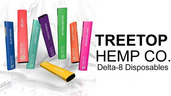 Treetop Hemp Co Delta 8 Disposable Vape Group Image