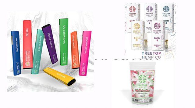 treetop hemp company hemp-derived delta-8 THC products