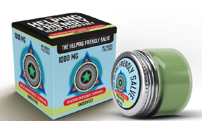 Helping Friendly Hemp Company Delta 8 THC Salve Uncented 1000mg compressed