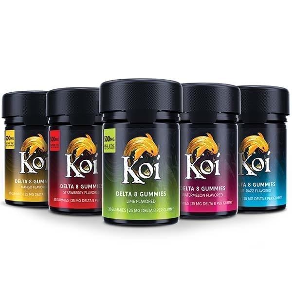 Koi Delta-8 THC Gummies Group Photo
