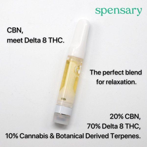 Spensary Delta-8 THC CBN Vape Cartridge Breakdown