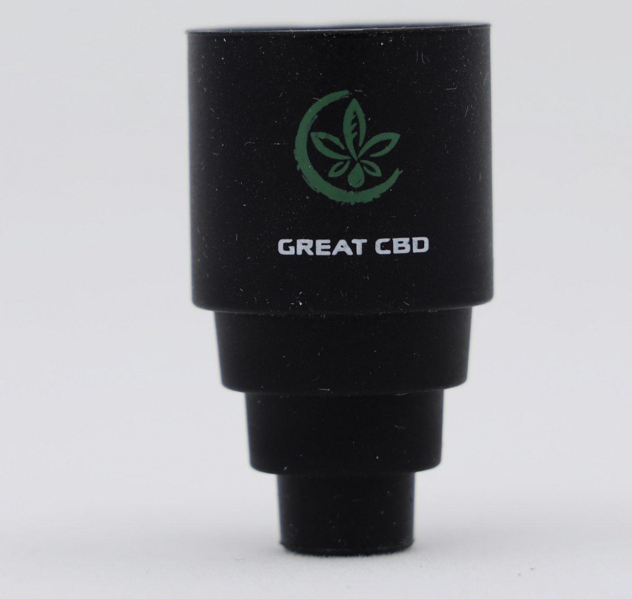 Great CBD Shop G Cap DabCap vaporizer to water pipe attachment 1