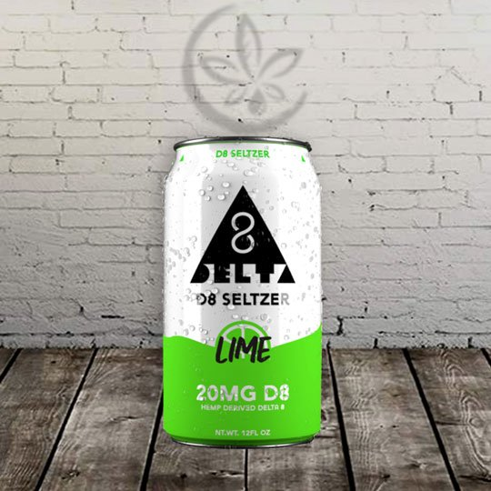 Delta 8 Seltzer lime Great Cbd Shop