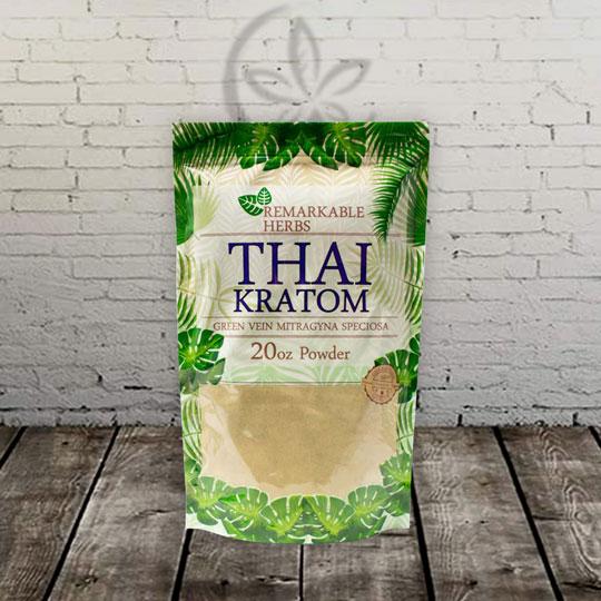Remarkable Herbs THAI Kratom Powder Green Vein