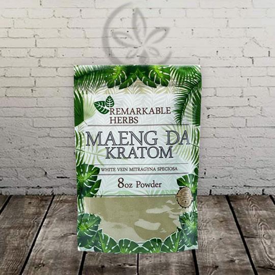 Remarkable Herbs Maeng Da Kratom Powder -- White Vein