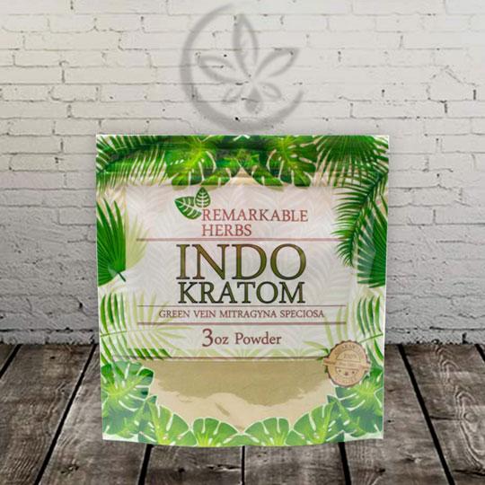Remarkable Herbs INDO Kratom Powder Green Vein