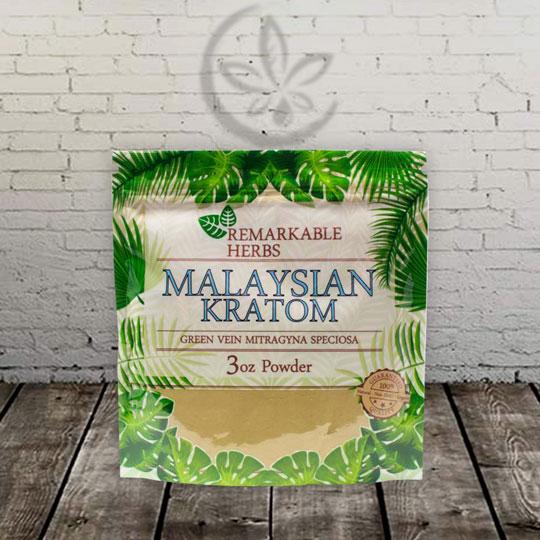 Remarkable Herbs Malaysian Kratom Powder -- Green Vein