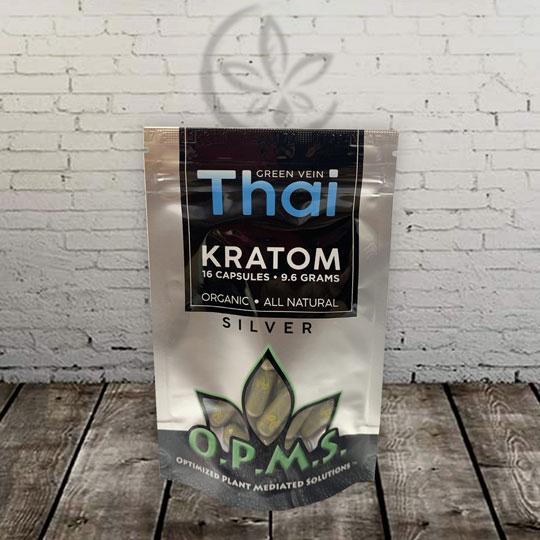 OPMS Silver - Green Vein - Thai Kratom Capsules