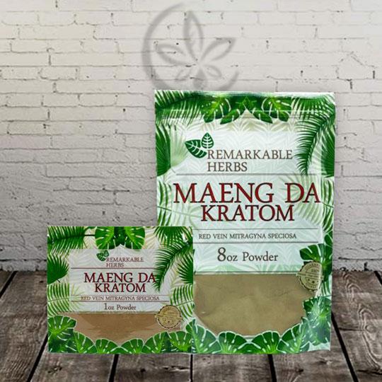 Remarkable Herbs MAENG DA Kratom Powder Red Vein
