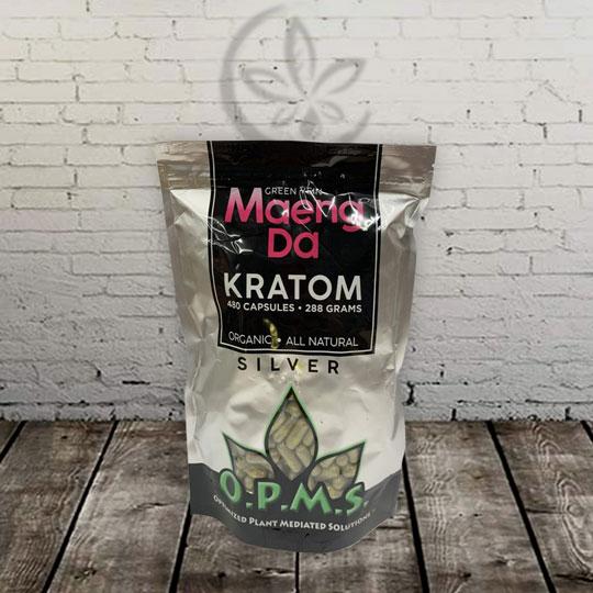 OPMS Silver - Green Vein - Maeng Da Kratom Capsules